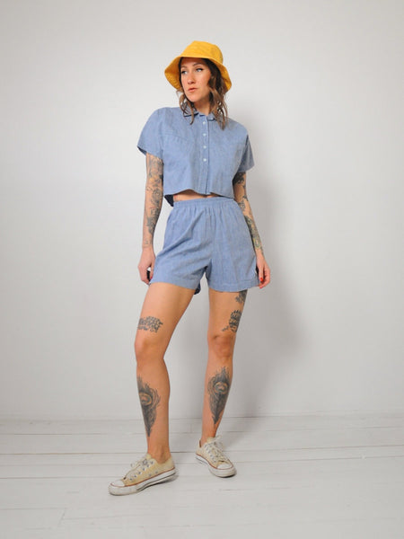 Chambray 2 Piece Short Set