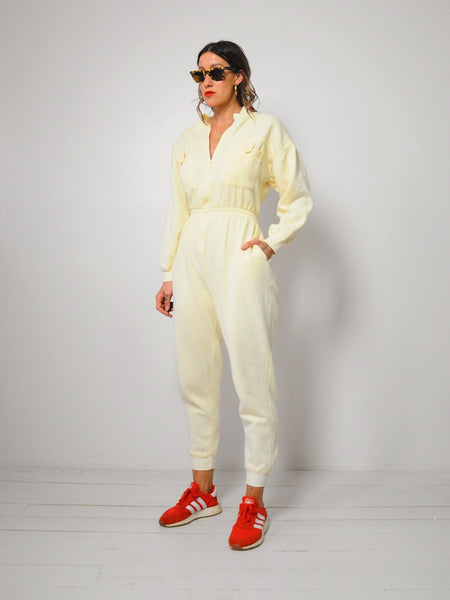 Sweatsuit Zipper Jumpsuit