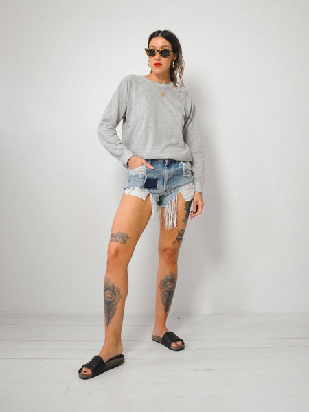 70's Lee Patched Cut Off Shorts