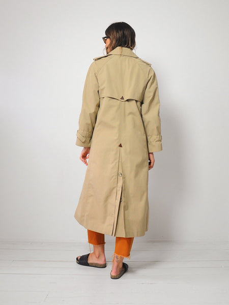 70's Tan Trench Coat