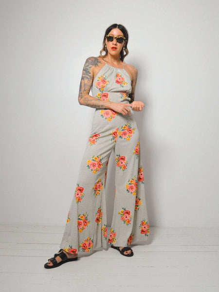 70's Open back Palazzo Jumpsuit