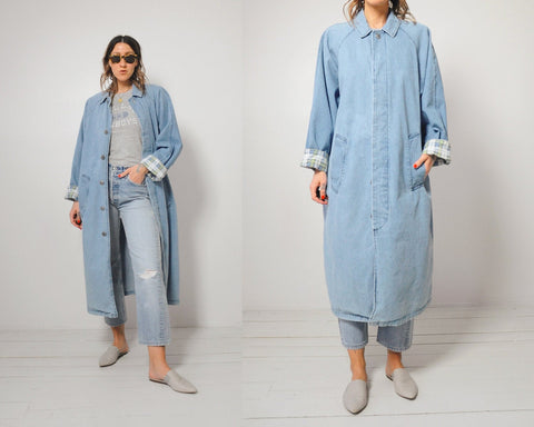 Oversized Denim Duster
