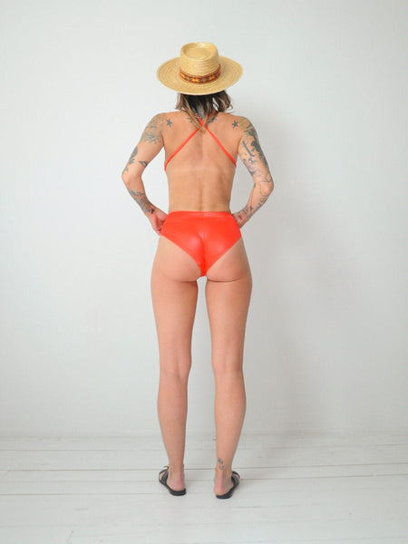 70's Open back Swimsuit