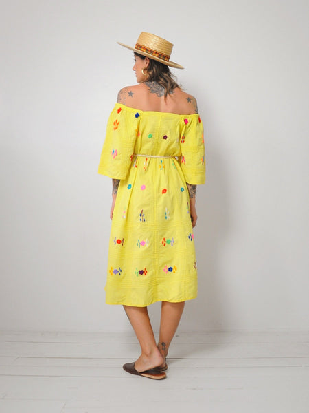70's Orla Embroidered Dress