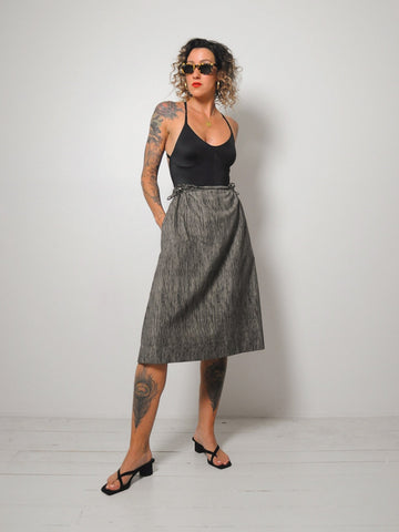 Striped Tie Waist Skirt