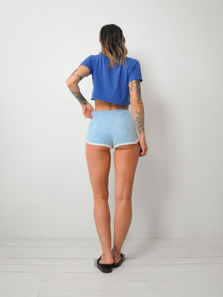 70's Blue Terry Cloth Shorts