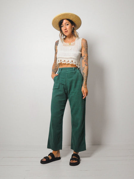 1940's Green Side Snap Jeans