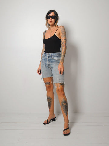 70's Longer Frayed Cut Offs