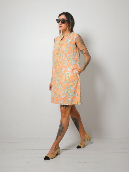 60's Paisley Pocket Tent Dress