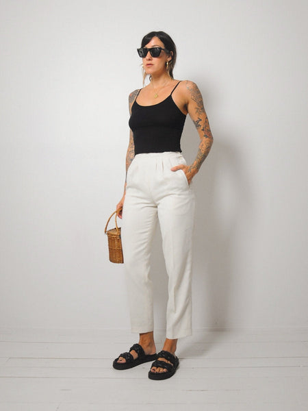 Ivory Petite Fit Trousers