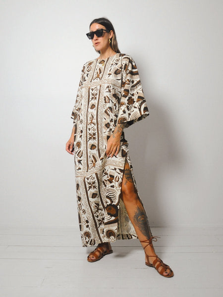 60's Botanical Batik Tent Dress