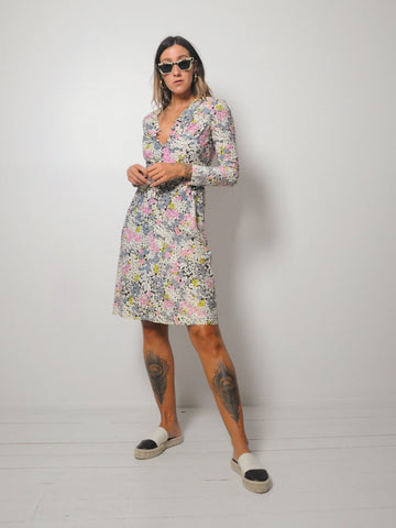 60's Morning Glory Floral Dress