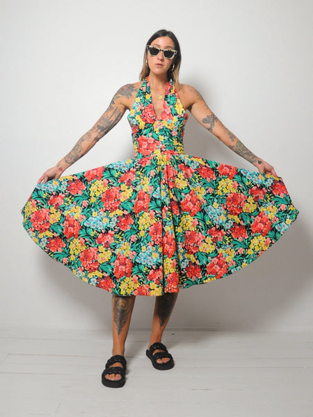 Lillie Rubin Floral Halter Dress