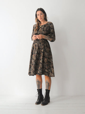 70's Avie Calico Floral Dress
