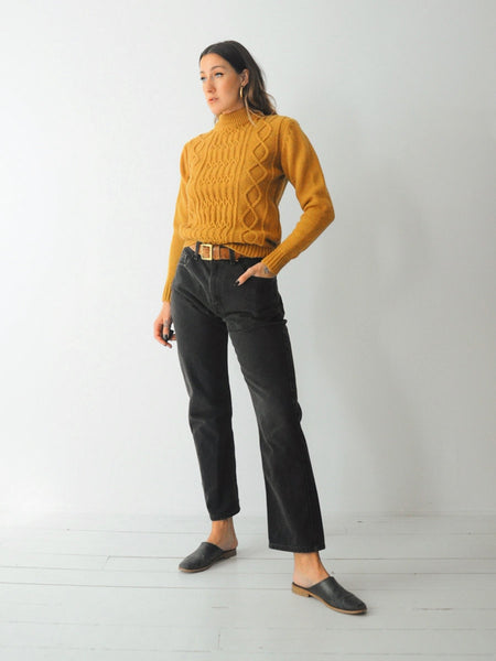70's Acorn Cableknit Sweater