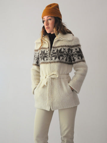 70's Fairisle Icelandic Sweater Coat