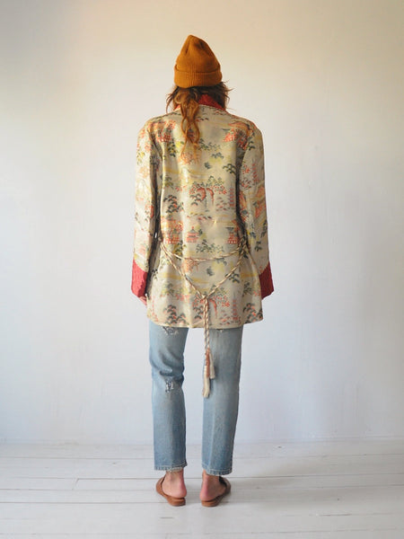 50's Jacquard Smoking Robe Jacket