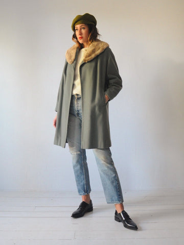60's Gabby Cashmere Swing Coat