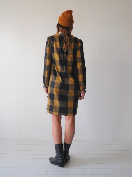 60's Holly Checkered Shift Dress