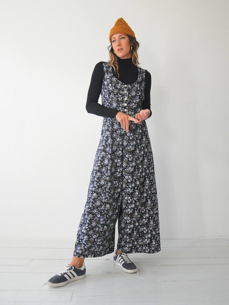 Calico Wide Leg Jumpsuit