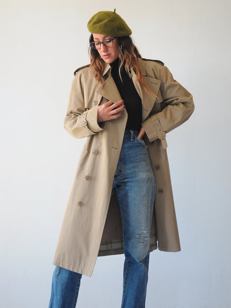 Wool Lined Trench Coat