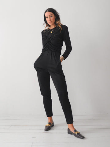 Olivia Strong Shoulder Jumpsuit