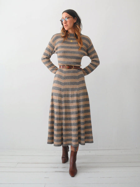 Alpaca Striped Sweater Dress