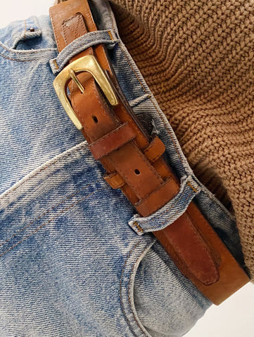 Cognac Wrap Leather Belt