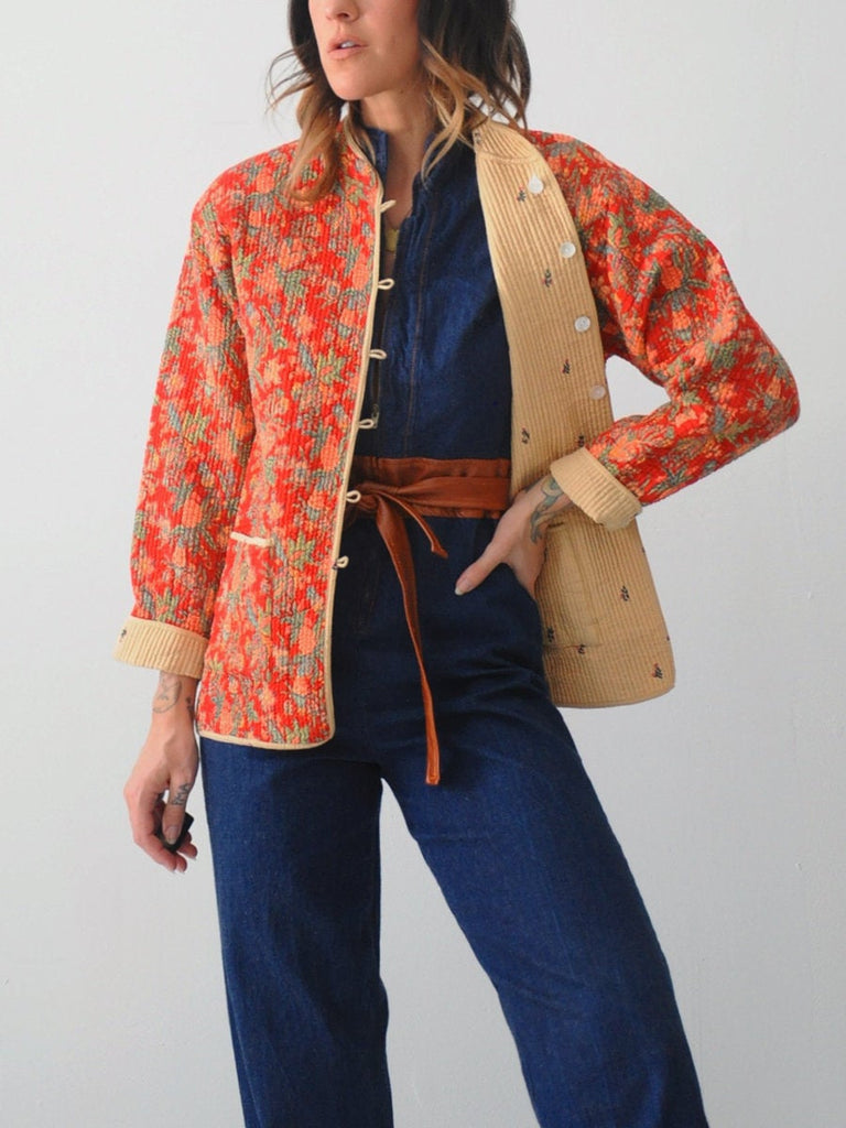 Floral Reversible Quilted Jacket