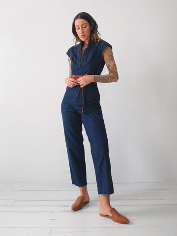 70's Astrid Denim Jumpsuit