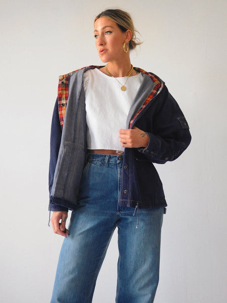 70's Hooded Jean Jacket