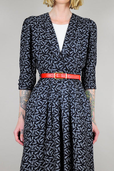 Confetti Print shirt dress