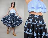 1950's Polka dot full circle Skirt