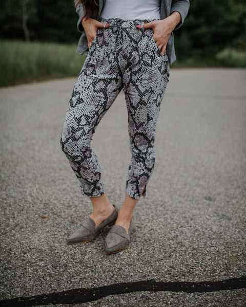 Chaser Heirloom Snake Print Pants