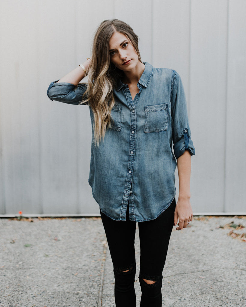 Wherever You Go Chambray Shirt