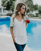 Everyday V-Neck Tunic Tee - Ivory