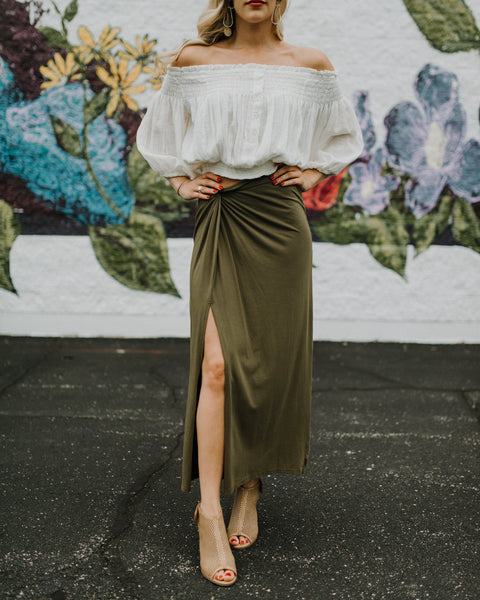 Twist Of Fate Slit Skirt