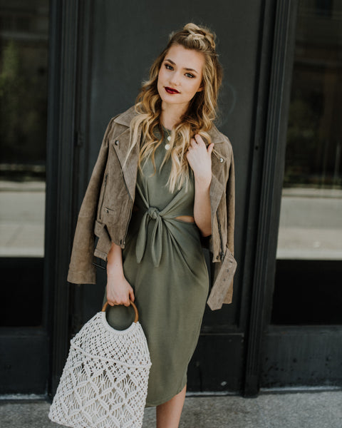 Blank NYC French Taupe Suede Jacket