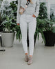 Pistola Denim Aline in White