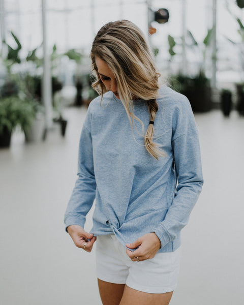 (ONLY 1 LEFT!) Kari Twist Front Sweatshirt