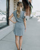 (ONLY 1 LEFT!) Chaser Flutter Tee Dress (Grey or Navy)