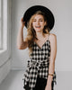 (ONLY 1 LEFT!) Valley Gingham Tie Tank