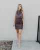 Free People I'm Your Favorite Mini Dress in Plum