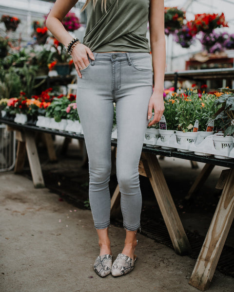 AOS Heather High Rise Jeans in Grey