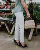 Ecru Springfield Dress Pants in White