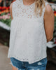 Foster Crochet Lace Top