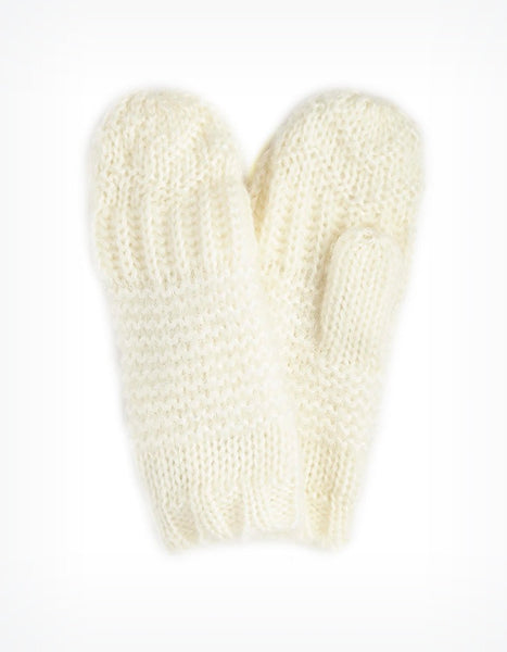 Winter Knit Mittens (Ivory or Black) by Echo Designs