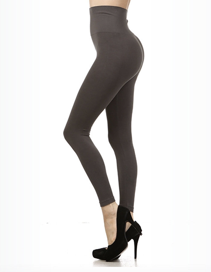 M. Rena High-Waist Leggings (Grey or Black)