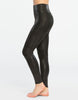 Spanx Faux Leather Moto Black Leggings