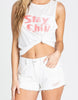 Drift Away Distressed Shorts